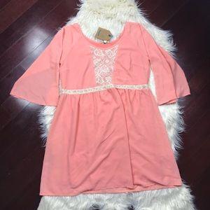 Kori America baby doll dress lace detail size S